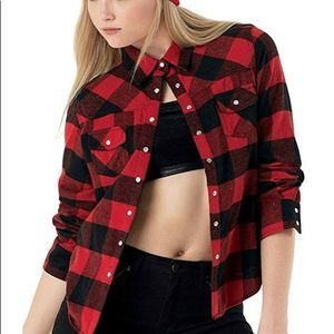 Urban Groove Dance Buffalo Plaid Shirt Red Black M